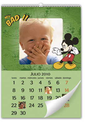 Calendário de parede Mickey Mouse (30x45)