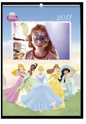 Calendário de parede Princesas Disney (22x30)