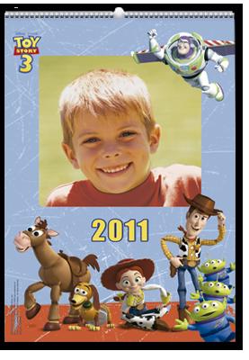 Calendário de parede Toy Story (22x30)