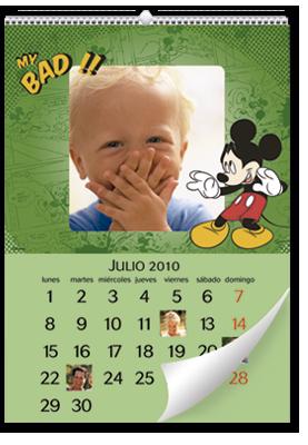 Calendário de parede Mickey Mouse (22x30)